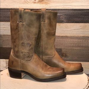 Frye Ladies pull on boots in cognac 251080 11